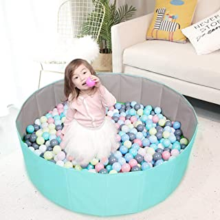 Kids Play Ball Pool Baby Round Folding Ball Pit Comfortable Ocean Ball Pool Outdoor Indoor Nursery Baby Playpen, for Toddl...