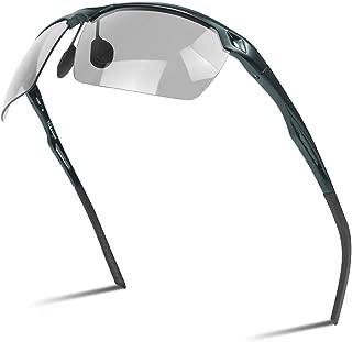 Hikariyo 調光サングラス 偏光レンズ スポーツサングラス UV400紫外線カット 釣り用/ゴルフ/運転/ランニング/自転車に最適