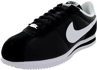 on sale dc2a2 92779 Nike Cortez Basic Nylon  06 Mens Running Shoes 317249-012 Black White 8.5 M