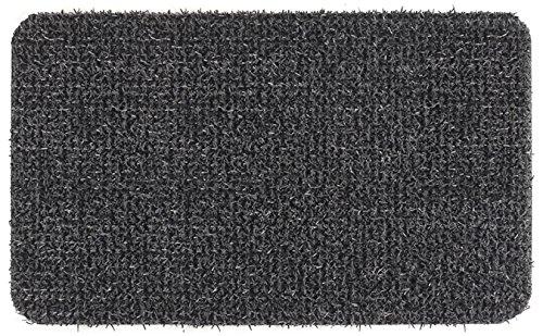"GrassWorx 10376621 Clean Machine Astroturf Dirt Trapper Doormat, 23.5""x35.5"", Flint Gray"