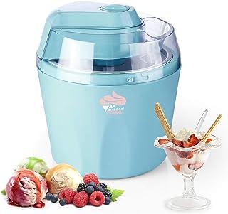 comprar comparacion amzdeal 1.5L Heladeras Eléctrico para Helado/Sorbete/Yogurt Helado, Máquina de Helados con Recipiente Extraíble y Temporiz...