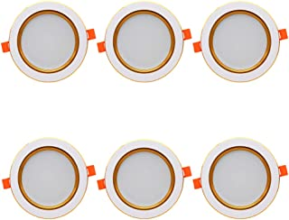 LXcom 3W LED Downlight 3.2 Inch LED Recessed Downlight 3 Color Changing Dimmable Directional Recessed Ceiling Light, 300LM, AC85~265 Volt,6 Pack