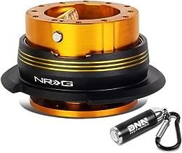 NRG Innovations SRK-290RG-BK-CG Gen 2.9 Steering Wheel Quick Release + LED Keychain Flashlight