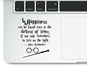 Harry Potter Motivational Life Quote Happiness can be found Clear Vinyl Printed Decal Sticker for Laptop Macbook Trackpad