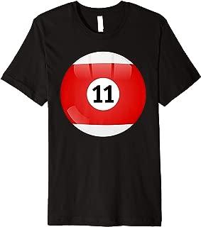 Number 11 Pool Ball, Billiard. Pool Ball Premium T-Shirt