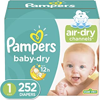 Sponsored Ad - Diapers Newborn/Size 1 (8-14 lb), 252 Count - Pampers Baby Dry Disposable Baby Diapers, ONE MONTH SUPPLY