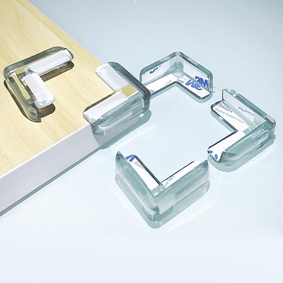 食事聖人レンド【Ksizen ショップ】コーナークッション コーナーガード 透明 粘着力が抜群 両面テープ付き テーブルや戸棚などの家具のエッジを保護して …
