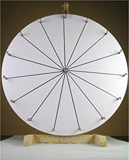 CHWAREHOUSE Woodwell 24-Inch Spin to Win Casino Prize Wheel with 15 Editable Prize Slots | Durable Wooden Tabletop Designed for Trade Shows Spinning Prize Wheel with Markers and Eraser Included