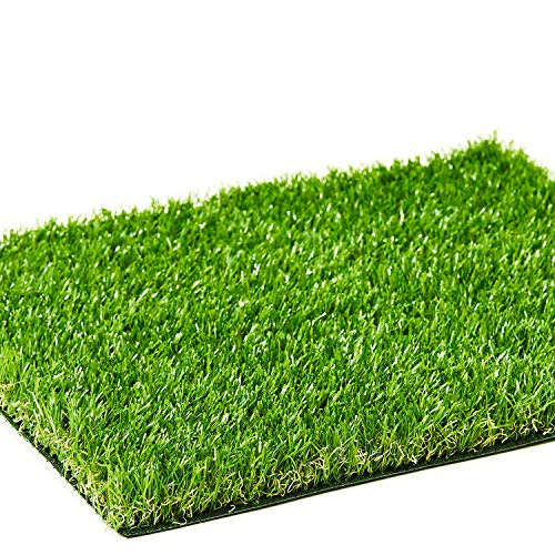 AYOHA Artificial Turf 11' x 12' with Drainage, 1.38 Inch Realistic Fake Grass Rug Indoor Outdoor Lawn Landscape for Garden, Balcony, Patio, Synthetic Grass Mat for Dogs, Customized