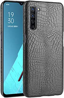 zl one Compatible with/Replacement for Phone Case OPPO K7 5G Crocodile Pattern PU Leather Case Back Cover (Black)