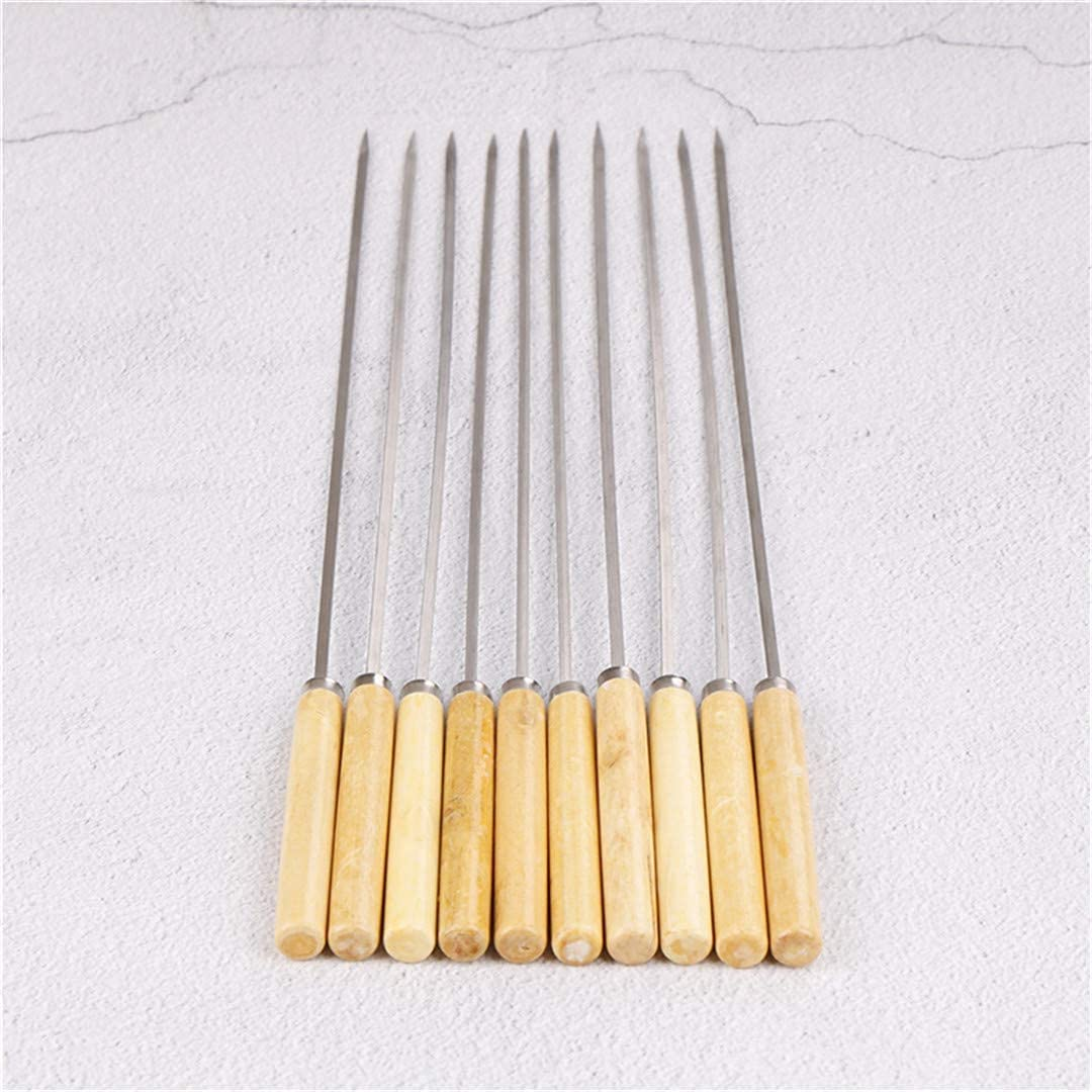 XYSQWZ 10PCS Lot 35CM Barbecue Needle Hot Skewers Max 73% OFF BBQ wit Seattle Mall Handle