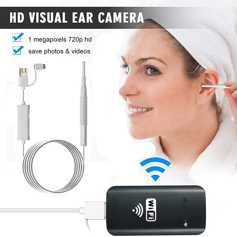 無線耳の内視鏡のWifiの耳鏡の口頭心配の点検カメラIP67はアンドロイド、Ipad、IOS、PCのための6つのLEDライトが付いている1.0MP HDボアスコープを防水します