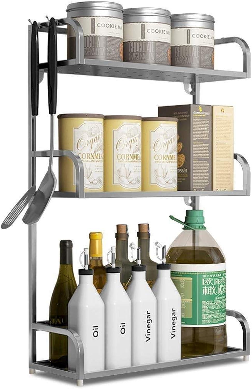 Stainless Steel Kitchen Rack Floor 3 Layer Supplies Appliances Multi-Function Storage Storage Seasoning Spice Rack ZXMDMZ (Size   50CM)