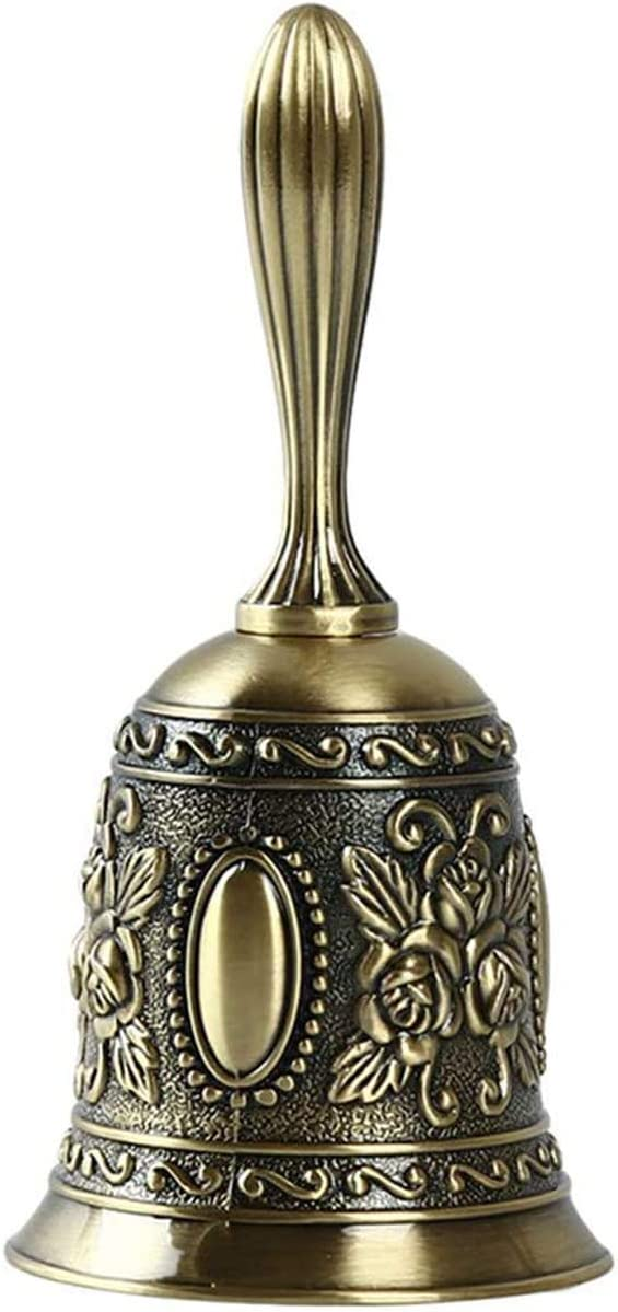 Opening large release sale NIDEZHI Hand Bell Call Dinner Antiq In a popularity Wedding Brass