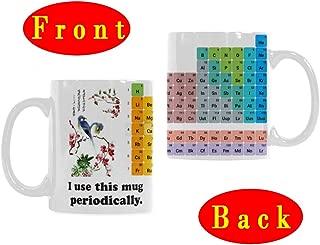 Novelty Ceramic Coffee Mug, Periodic Table of Elements - I Use This Mug Periodically - Birthday Gifts for Teen Boys/Girls, 11 oz