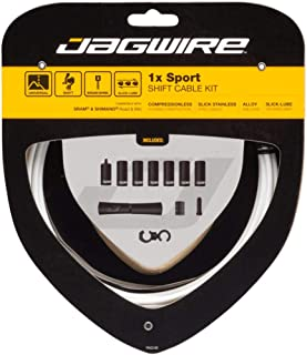 Jagwire - 1x Sport Sealed DIY Shift Cable Kit | for Road, MTN, and Gravel Bike | SRAM and Shimano Shifter Compatible, Sport Slick Cables with Compressionless Housing | White