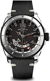 Armand Nicolet Gents-Wristwatch S05 GMT Date Analog Automatic A713AGN-GR-PK4140NR