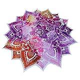 Mandala redondo de flor de loto poliéster mantel toalla de playa, diseño de playa manta, indio Mandala tapiz, esterilla de yoga, alfombra de picnic Funda para mesa, mesa manta (rosa)