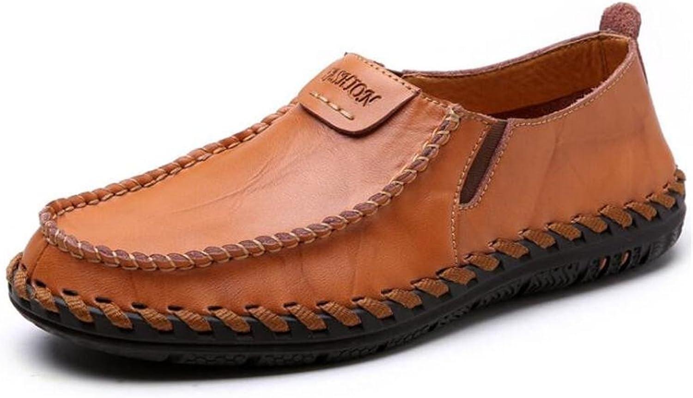 Mnner Schuhe aus echtem Leder handgefertigt Comfort Office & Karriere Loafers leichte Outdoor-Gre 38 To 43