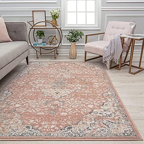 Rugs America Area Rug, 8'0'X10'0', Pink Amaranth
