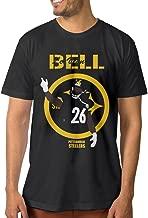 Noral Pittsburgh #26 Football Player Men's Crewneck Tee Shirt Black