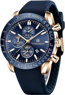 Reloj de Pulsera Hombre Elegante Casual Analógico Cuarzo Reloj Cronógrafo Impermeable