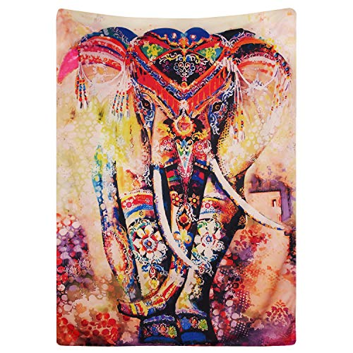 Maustic Psychedelic Elefant Blume Tapisserie Hippie Mandala Gypsy Bohemian Traditionelle indische Wandbehang Tabelle Vorhang Wand Decor Tisch Couch Bezug Picknick Decke Beach Überwurf 150X130cm