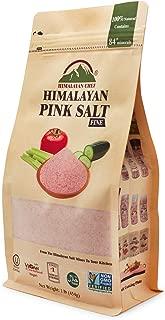Himalayan Chef Pink Salt Fine Stand Up Bag w/Window,100% Pure Natural Himalayan Pink Salt - 1 LBS