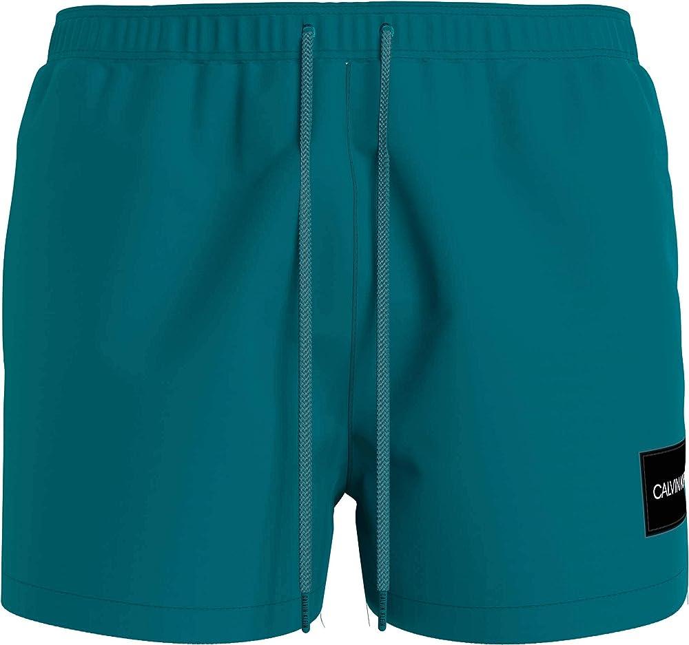 Calvin klein short drawstring,  costume a pantaloncino per uomo, 100% poliestere KM0KM00577C