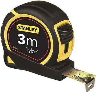 Stanley taśma miernicza tylon, 3 m, powłoka ochronna z polimeru tylonowego, przesuwany hak końcowy, obudowa z tworzywa szt...