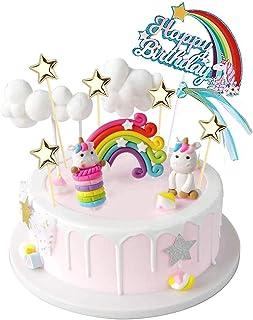 YZCX Decoración para Tarta Unicornio Cake Topper