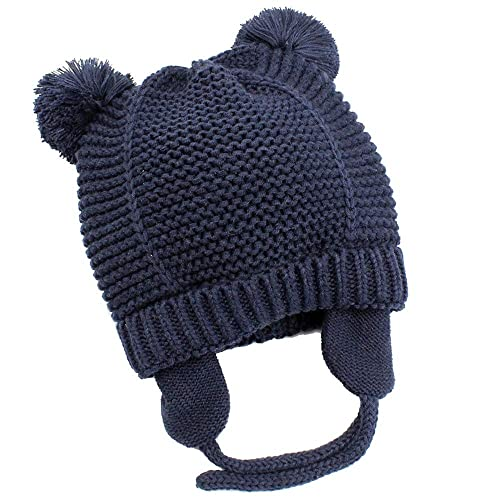 7731a6e675379 Hisharry Baby Beanie Warm Hat-Infant Boys Hat Cute Bear Knit Toddler Girls  Earflap Soft