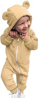 Pijama Niño Niña de Una Pieza, Pijama Color sólido con Capucha, Pijamas Niños Enteros Forro Polar, Regalos Originales para Niños y Adolescentes
