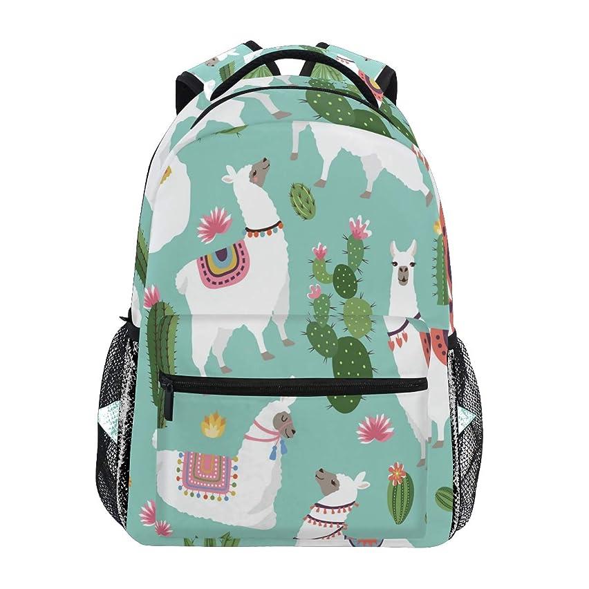 ALAZA Llama Cactus Plant Backpack Daypack College School Travel Shoulder Bag