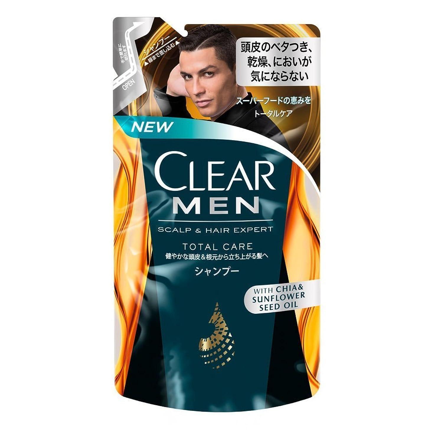 辛い先に失望クリア フォーメン トータルケア 男性用シャンプー つめかえ用 (健やかな頭皮へ) 280g × 3個