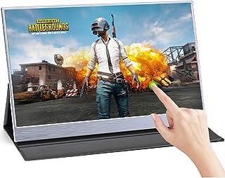 WMWHALE Monitor de tela sensível ao toque tipo C de 15,6 polegadas, monitor portátil com tela Full HD 1920 x 1080 16:9, te...