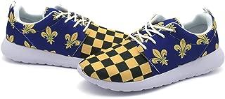 Men's Fashion Sport Shoes with Blue Fleur De Lis Flag French Banner Printed
