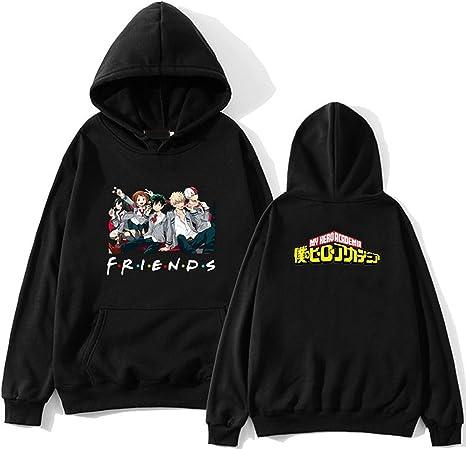 Damen Mädchen Anime My Hero Academia Crop Hoodies Sweatshirts Pullover Top eoHpr