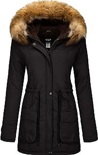 Women's Winter Thicken Military Parka Jacket Warm Fleece...