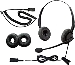 $35 » RJ9 NC Duo Office Phone Corded Headset for Analog Landline Phone Aastra Avaya Nortel Polycom Mitel ShoreTel Digium AltiGen...