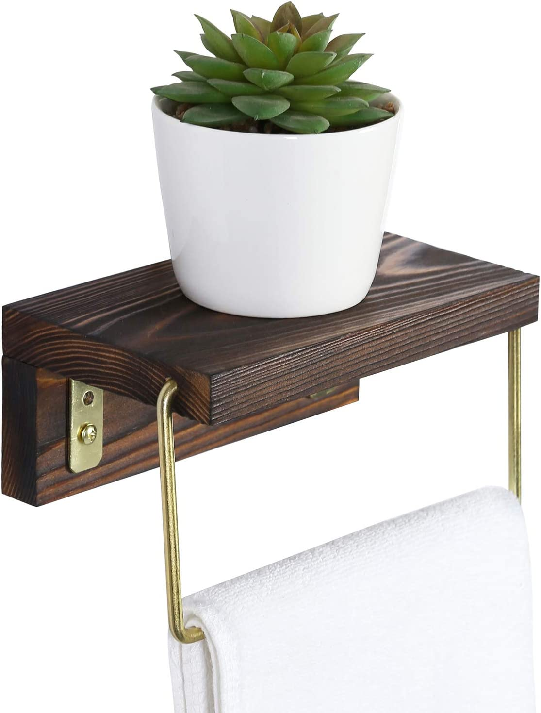 Special Campaign MyGift Hand Towel Rack for Some reservation Bathroom Metal Rustic Brass Tone Wir