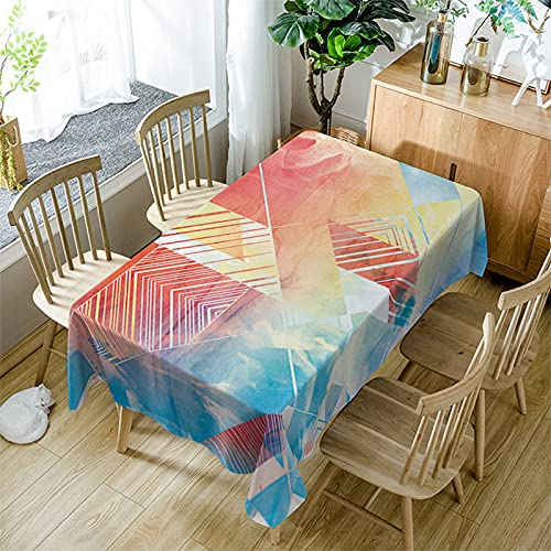 XXDD Mantel Moderno de Simplicidad Textil para el hogar Colorido patrón de Costura Cuadrada a Prueba de Polvo Mantel Rectangular A8 140x140cm