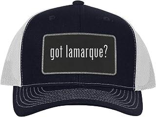 got Lamarque? - Leather Black Metallic Patch Engraved Trucker Hat