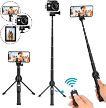 Selfie Stick Tripod,45 Inch Extendable Selfie Stick Tripod with Wireless Remote Control,Compatible with iPhone 6 7 8 X Plus,Samsung Galaxy S9 Note8, Gopro