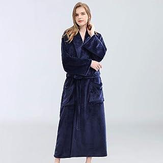 Pijamas Mujer Camisón Camisón De Mujer Engrosado Pareja Albornoz Franela Pijama Largo A Cuadros Otoño E Invierno Ropa De Dormir Bata Mujer Mujer
