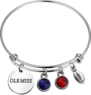 KUIYAI Ole Miss Bracelet University of Mississippi Sports Lover Gift Athletic Gift