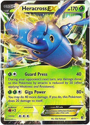 Pokemon - Heracross (4/111) - XY Furious Fists - Holo