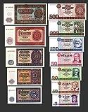 *** 5, 10, 20, 50, 100, 200, 500 DDR Mark Geldscheine 1955,1971 Alte Währung 2 Sätze - Alte DDR Währung - Pick 017 - 21 und 27 - 33 - Reproduktion ***