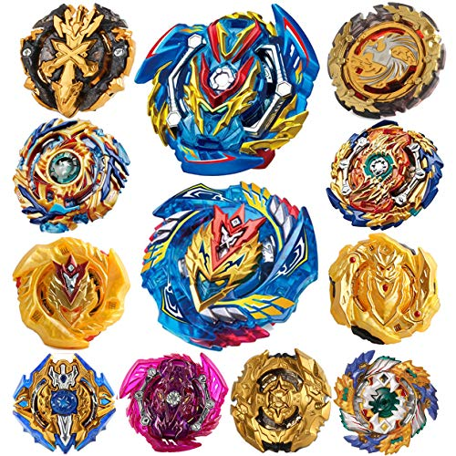 HUXICUI Burst Gyros Battling Top Battle Burst High Performance Set, Birthday Party Gift Idea Toys for Boys Kids Children Age 8+, 12 Pieces Pack