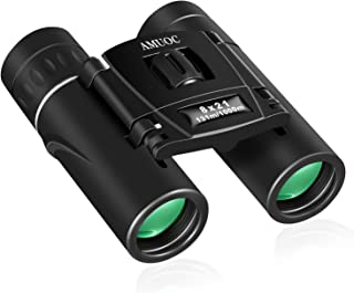 Binoculars Mini Pocket Binoculars Import Full Optical Glass Mini Lightweight Binoculars Foldable for Opera Concert, Travel, Hiking, Bird Watching, Observing Outdoor Scenery, Hunting, Climbing